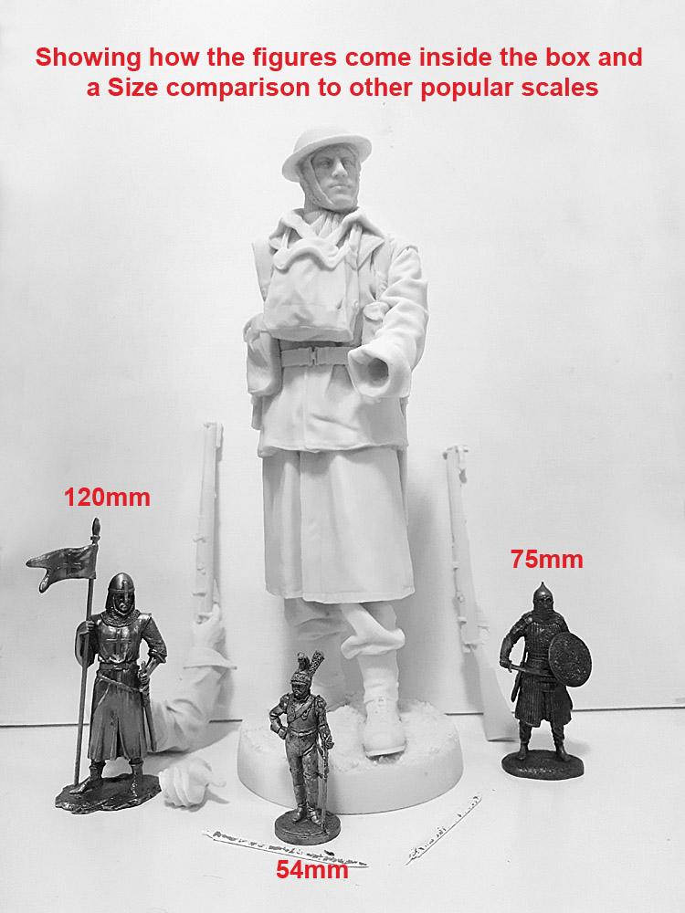 315mm France AIF Artilleryman 1918 - Miniatures, models